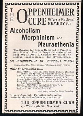 Alcoholism Morphinism Oppenheimer Cure 1898 Quack AD