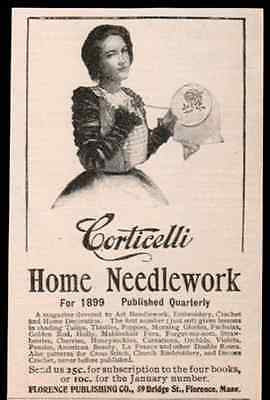 Corticelli Needlework 1898 Small AD Textiles Needlepoint Advertisement