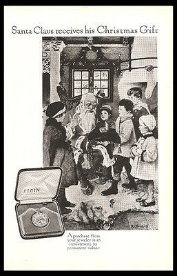 Santa Claus Surprise Gift From Children 1926 ELGIN Watch Ad