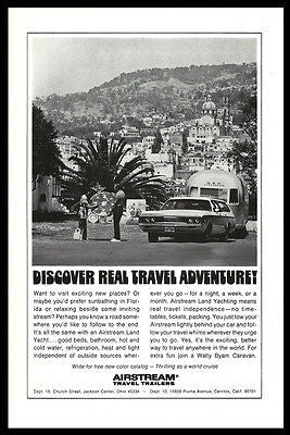 Airstream Travel Trailer 1973 Mexico South America Travel Tourism Photo Print Ad - Paperink Graphics