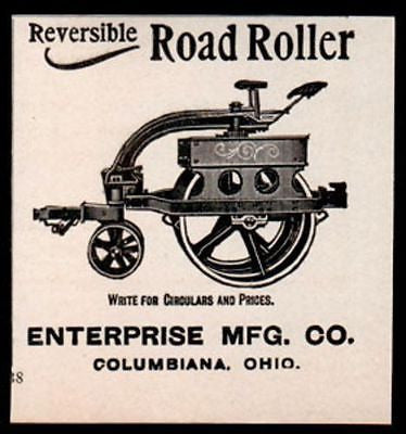Road Roller Street Construction Machine 1906 Small Steampunk Art AD