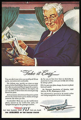 After Pearl Harbor Airline Seats Increased by 10 Times  Aviation 1940s Print Ad