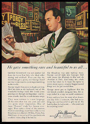 George Gershwin Broadway Music 1959 Print Ad