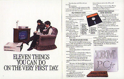 IBM 1984 Vintage Computing Ad IBM PCjr Personal Computer 128kb Technology - Paperink Graphics