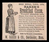 Bakers Breakfast Cocoa 1894 Ad Dorchester MA Food Baking Kitchen Advertising