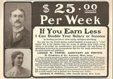 1905 Writing Writer Occupation Ad Learn to Write Catchy Advertising