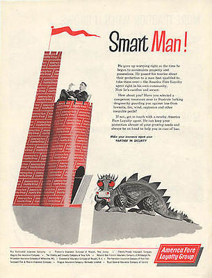 Dragon Castle Insurance American Fore Loyalty Group Insurance Industry 1960 AD - Paperink Graphics