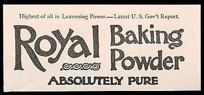 Royal Baking Powder Absolutely Pure Cooking 1894 AD