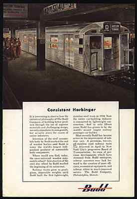 BUDD Stainless DECO Subway Car 1949 AD