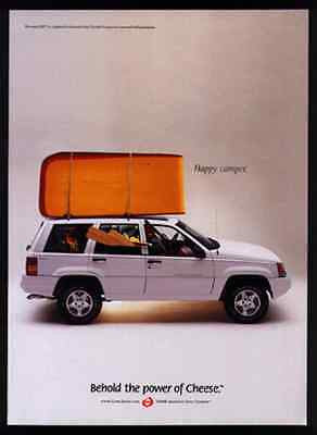 Cheese Happy Camper 1998 Jeep Dairy Photo AD Behold the Power of Cheese