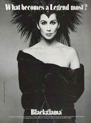 Cher What Becomes A Legend Most? 1990 Fashion Ad