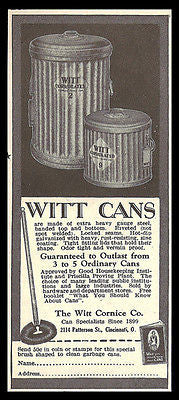 Witt Cans 1929 AD Corrugated Steel Trash Cans Witt Cornice Hardware AD