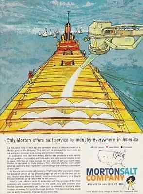 Rock Salt Barge 1960 AD Roadway Morton Salt Industrial Division