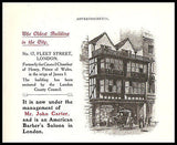American Barber AD 1906 Carter's Hair Cuts London England Oldest Building Photo - Paperink Graphics