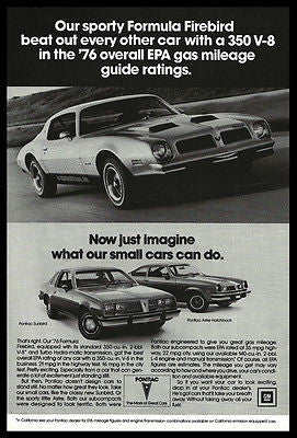 Pontiac Firebird 1979 Automobile Ad 350 V-8 Sport Car Sporty Formula  Print Ad - Paperink Graphics