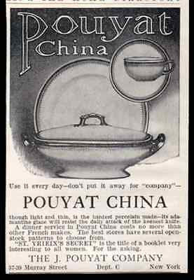 Pouyat China Porcelain Dinnerware 1910 Print AD