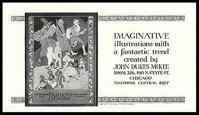 1926 AD Artist John Dukes McKee Advertising Illustrations Marshall Field Cover