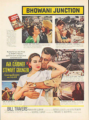 Ava Gardner Stewart Granger 1956 Movie AD Bhowani Junction MGM - Paperink Graphics