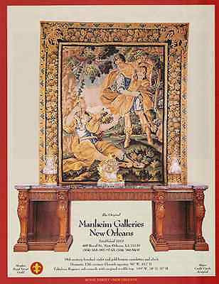 Flemish Tapestry AD 17th Century Antique Regency Console 1992 Gallery AD