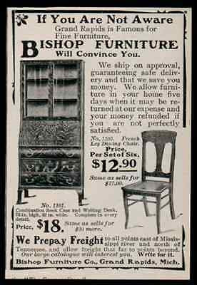 Bishop Furniture Grand Rapids MI Book Case Desk 1902 Ad - Paperink Graphics