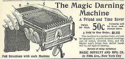 Magic Darning Machine Small AD 1898 Perfect Loom Textile Advertising