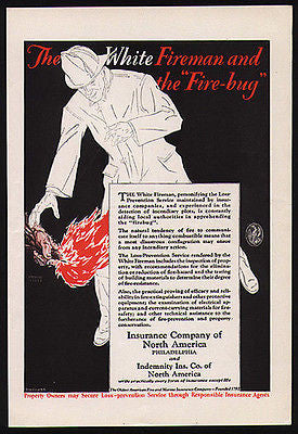 Fireman Insurance Company of North America 1920s AD
