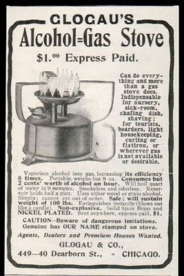 Stove Vaporizes Alcohol into Gas for Nursery Sickroom 1905 AD