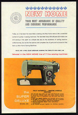 New Home Model 560 Sewing Machine 1962 Photo Ad