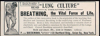 Strongman 1902 Breathing Vital Force Life AD P. Von Boeckmann