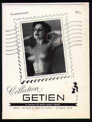 Bullet BRA Harmonie Getien Paris France 1952 Photo AD