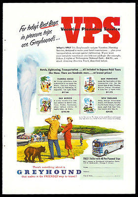 Greyhound Bus Best Buys 40 Trips Vacation Planning Service 1940 Ad - Paperink Graphics