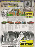 Bibendum Michelin Man Radial Tires 1988 AD Maryland Automotive Transportation