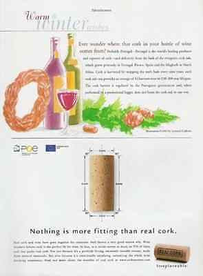Corks For Wine From Portugal 2002 AD Real Cork Irreplaceable - Paperink Graphics