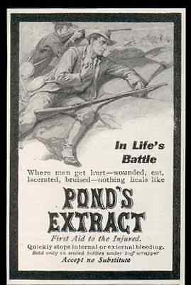 Pond's Extract First Aid to the Injured Stops Bleeding 1905 AD
