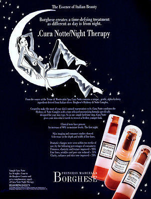 Crescent MOON Princess Marcella Borghese Moisturizing AD 1995 Woman in the Moon