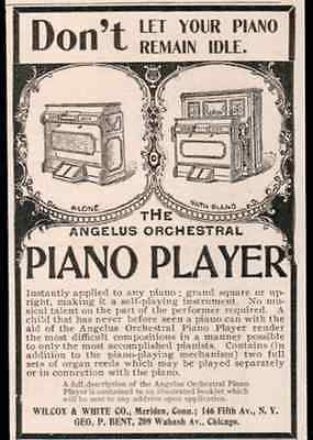 Angelus Orchestral PIANO Player 1898 Musical AD - Paperink Graphics