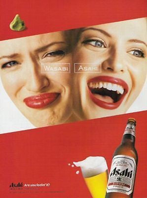 Asahi Beer Japan 2002 AD Are You Feelin' It Yet? Print Campaign Advertising