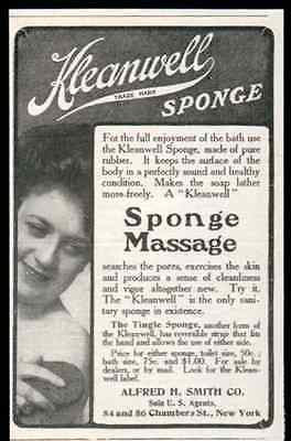 Rubber Kleanwell Sponge Bathing Beauty 1905 AD Vigor Cleanliness Health Beauty