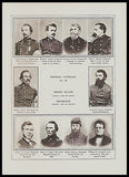 Rhode Island Generals Tennessee Generals Identified Union Army Civil War Print