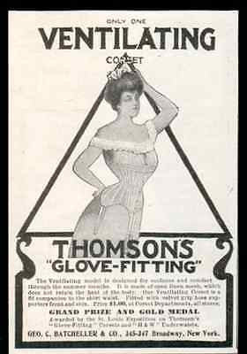 Corset Thomsons Glove Fitting Linen Corset 1905 AD