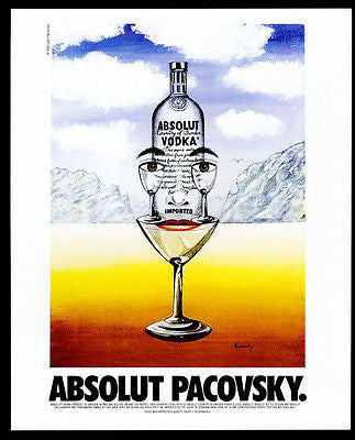 Absolut Pacovsky AD 1996 Vodka Liquor Distillery John Pacovsky Advertising Art - Paperink Graphics