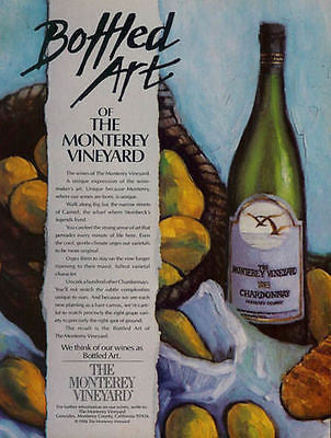 Bottled Art of the Monterey Vineyard CA 1986 Wine AD - Paperink Graphics