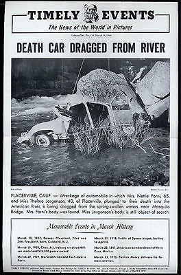 Auto Accident Placerville CA American River Mosquito Bridge 1946