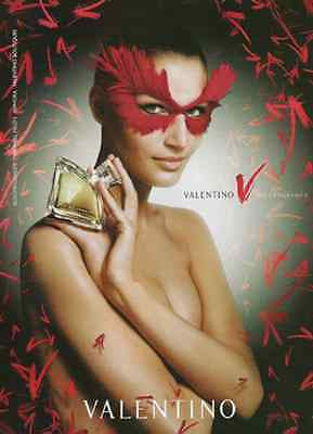 2005 AD Perfume Valentino Sensual Red Feather MASK