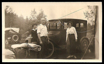 Antique Automobile Camping Family Blankets Gear Summertime Vacation Long Ago