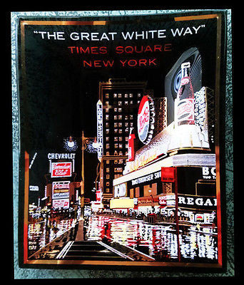 Houze Art New York City Times Square Convex Glass Dish Advertising Signage NYC - Paperink Graphics