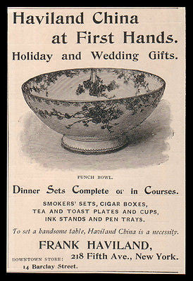 Haviland China AD 1888 Punch Bowl Household Holiday Wedding Gift  Home Decor - Paperink Graphics