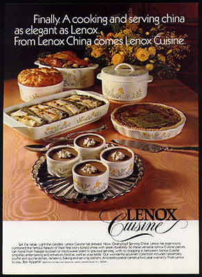 Lenox Butterfly Oven Proof Serving China 1978 Photo Ad
