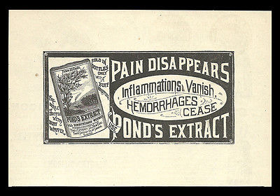 Pond's Extract Co. New York 1885 Antique Pain AD Bottle Packaging Buff Wrapper - Paperink Graphics
