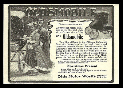 Oldsmobile Antique Automobile AD 1902 Olds Motor Works Detroit Michigan Advert - Paperink Graphics